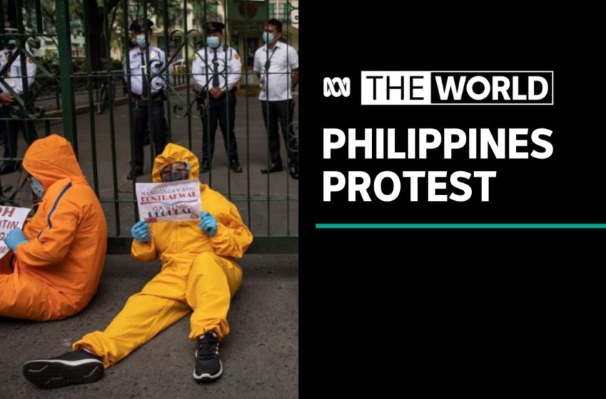 Filipino healthcare workers demand an end to unpaid benefits amid Covid-19 crisis | The World