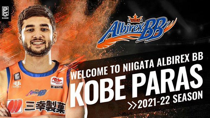 Kobe Paras signs with B.League's Niigata Albirex BB