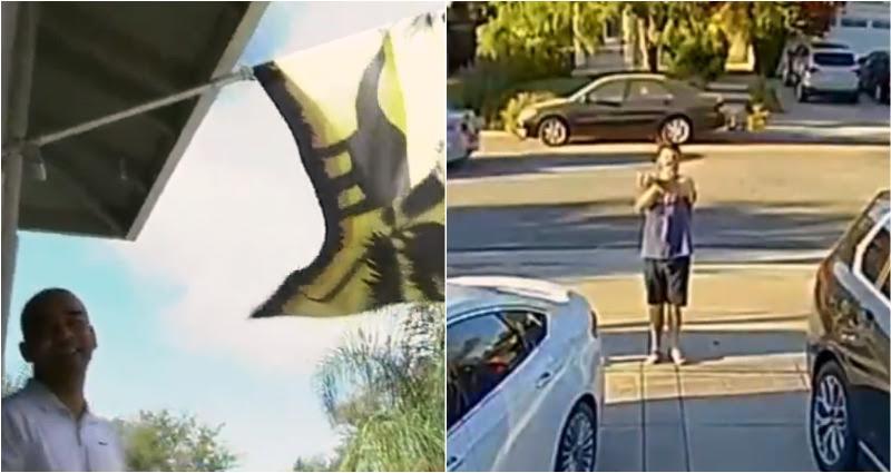 Vietnamese man harassed about child's dinosaur flag, has car windows smashed
